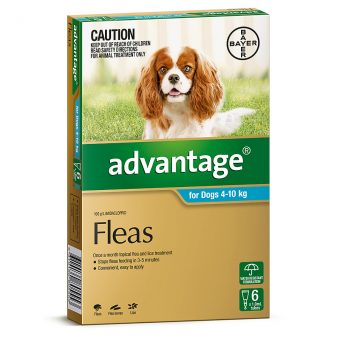 Advantage Aqua for Medium Dogs 4-10kg - 6 Pack