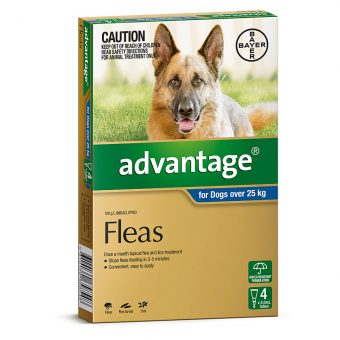 Advantage Blue for Extra Large Dogs Over 25kg - 4 Pack