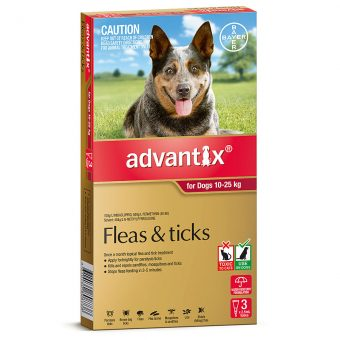 Advantix Red for Large Dogs 10-25kg - 3 Pack