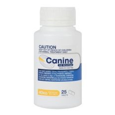 Canine All Wormer 40kg 25 Tablets