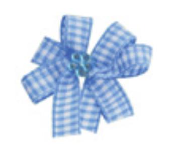 Premium Gingham & Rhinestone Pinwheel Bows