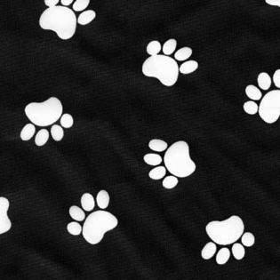 Stylist-Wear-satin-nylon-white-paws-on-black
