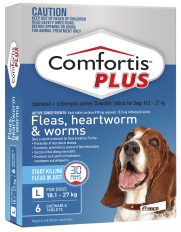 Comfortis Plus Blue for Dogs 18.1-27kg (810mg) – 6 Pack