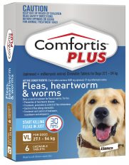 Comfortis Plus Brown for Dogs 27-54-kg (1620mg) – 6 Pack