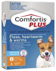 Comfortis Plus Orange for Dogs 4.6-9kg (270mg) – 6 Pack