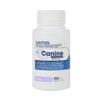 Canine All Wormer 10kg 100 Tablets