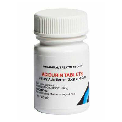 Image of Acidurin Tablets for Dogs & Cats 100 Tabs