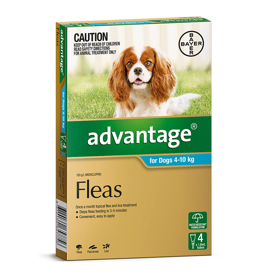 Image of Advantage Aqua for Medium Dogs 4-10kg - 4 Pack