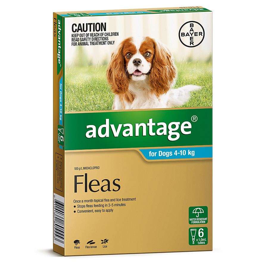 Image of Advantage Aqua for Medium Dogs 4-10kg - 6 Pack