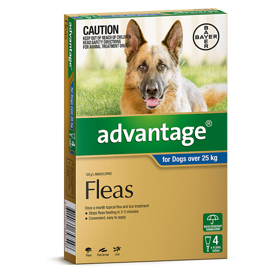 Image of Advantage Blue for Extra Large Dogs Over 25kg - 4 Pack