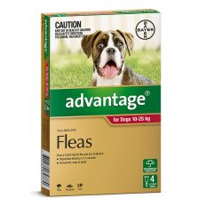 Advantage Red for Large Dogs 10-25kg - 4 Pack