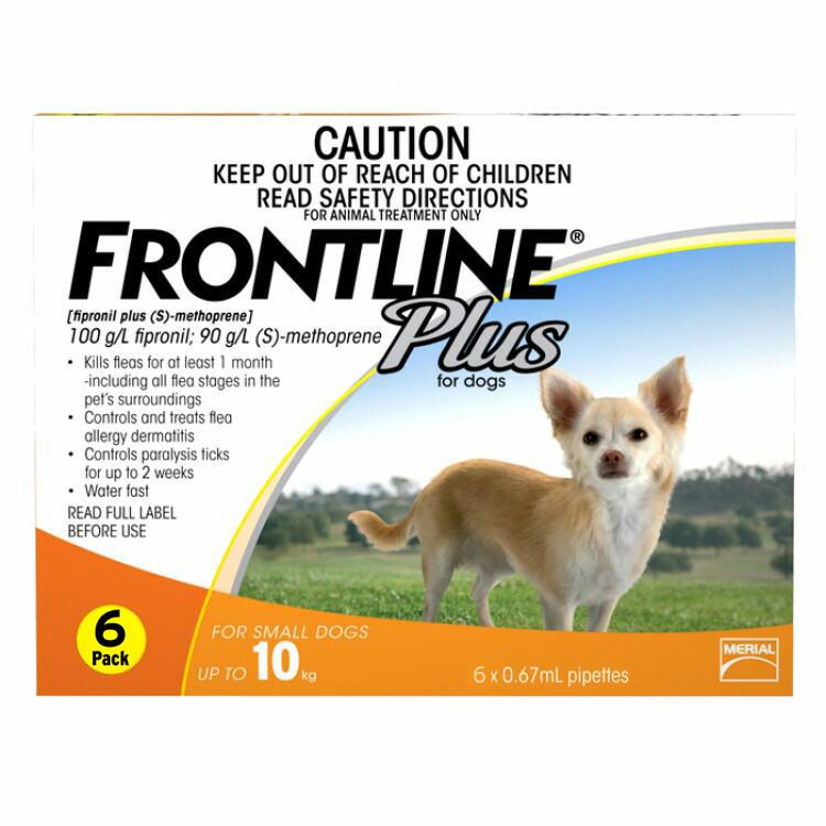 Frontline Plus Orange for Small Dogs up to 10kg - 12 Pack - Vet Net ...