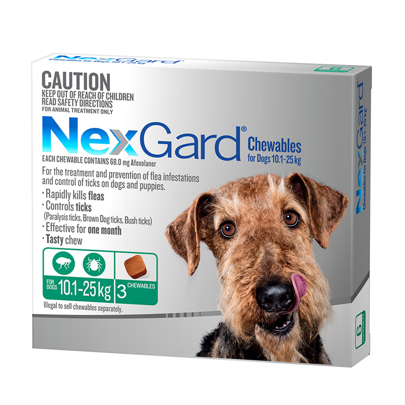 Nexgard Green For Large Dogs 10 1 25kg 22 55lb 3 Pack