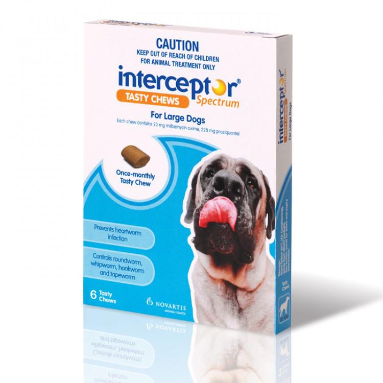 Interceptor Spectrum Blue For Large Dogs 22 45kg 6 Pack