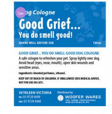 Good Grief… You Do Smell Good Dog Cologne