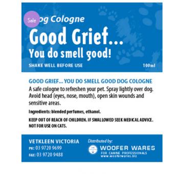 Good Grief… You Do Smell Good Dog Cologne
