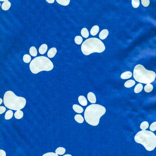 Stylist-Wear-satin-nylon-white-paws-on-blue