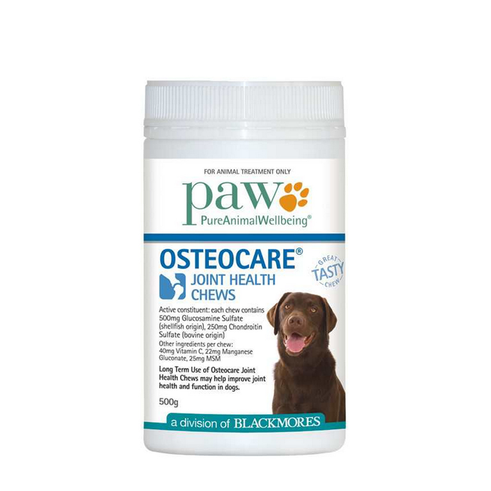 Paw Osteocare Chews 500g By Blackmores Vet Net Supplies