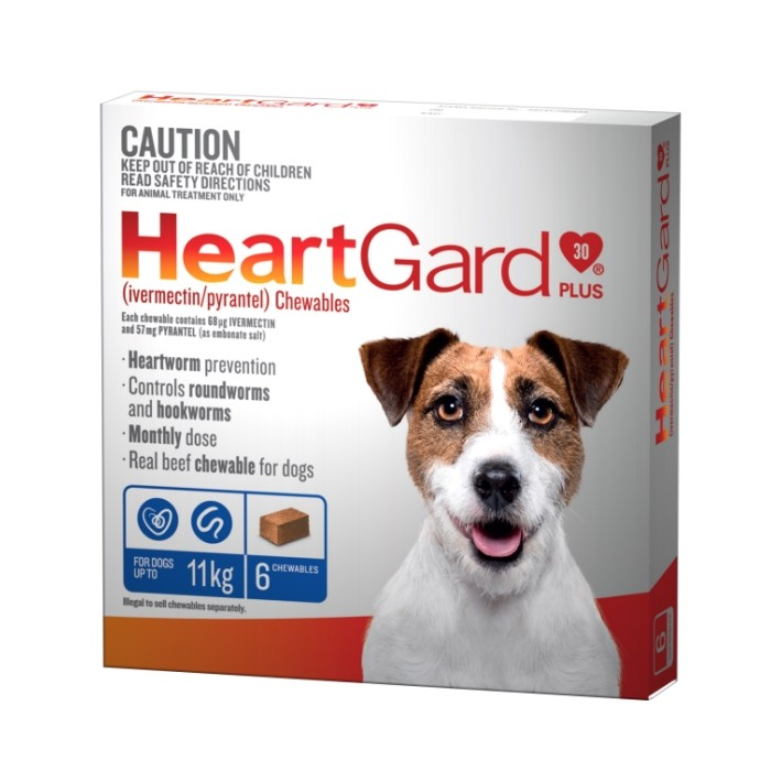 Heartgard Plus Chewables Blue For Small Dogs 0 11kg Up