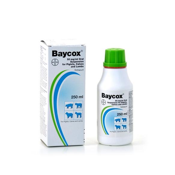 Baycox Piglet Amp Cattle Coccidiocide 250ml Vet Net