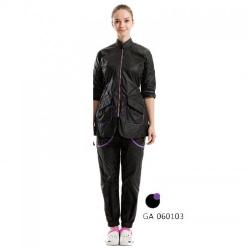 Pheme Grooming Apparel Black With Purple Zipper Large