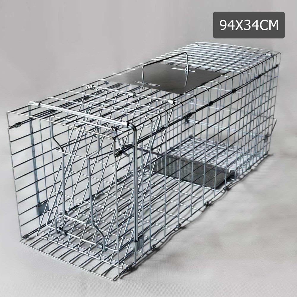 94 X 34 X 36cm Humane Animal Trap Cage Silver Vet Net