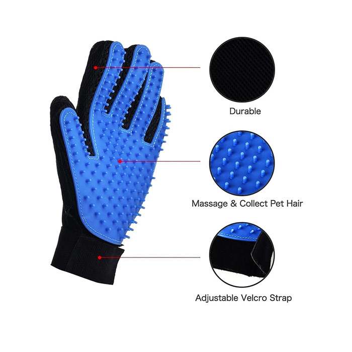 True Touch Deshedding Glove Vet Net Supplies Australia