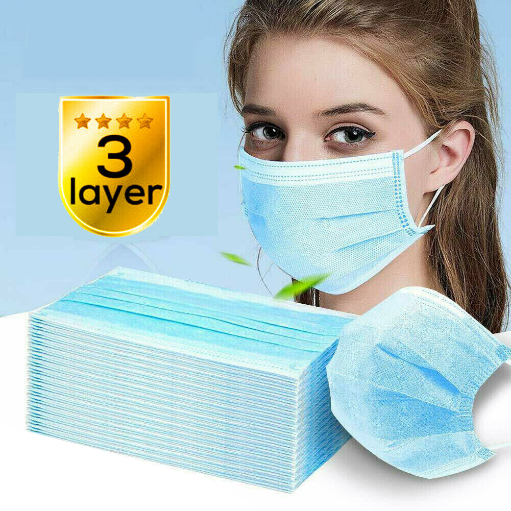 Face Mask - Surgical Medical Dental, Disposable 3-Ply - 10/20/50 ...